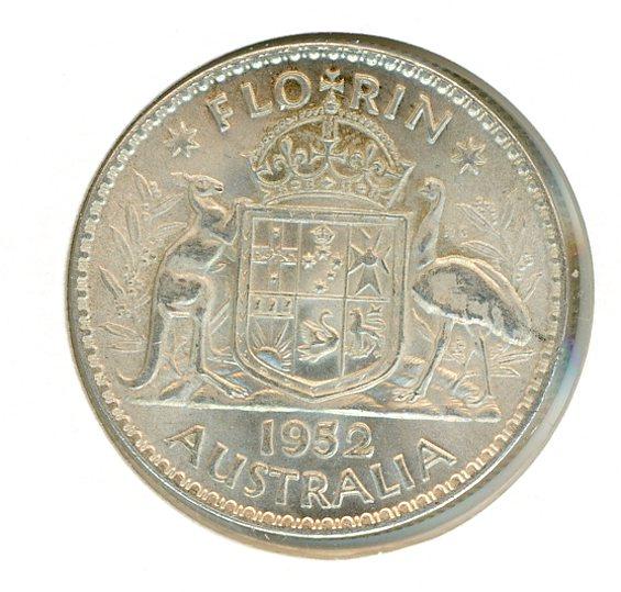 Thumbnail for 1952 Australian Florin EF