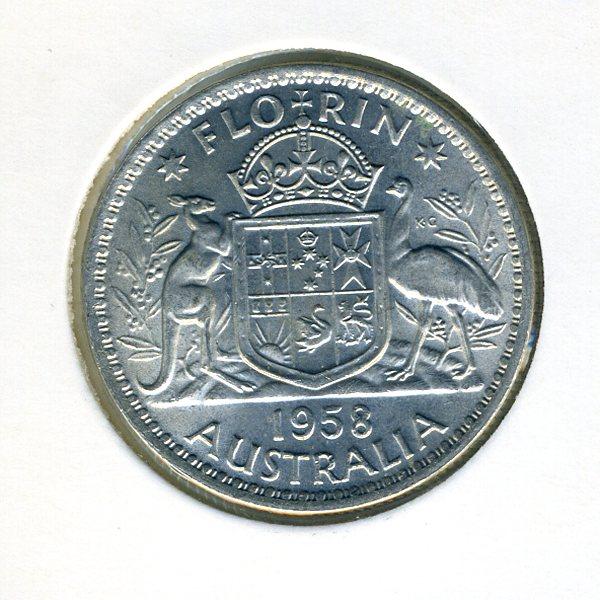 Thumbnail for 1958 Australian Florin - almost UNC