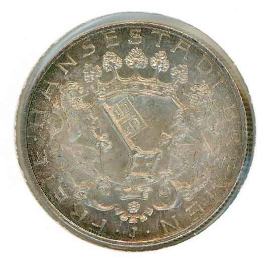 Thumbnail for 1904J Bremen Silver Two Marks gEF