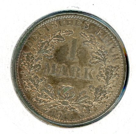 Thumbnail for 1911A German Silver One Mark EF