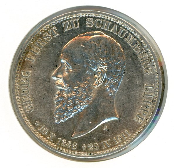 Thumbnail for 1911A German Silver Three Marks aUNC