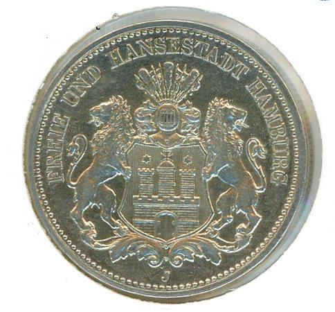 Thumbnail for 1914J Hamburg Silver Two Marks EF