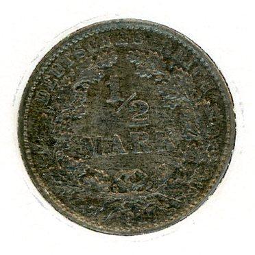 Thumbnail for 1917E German Silver Half Mark aUNC