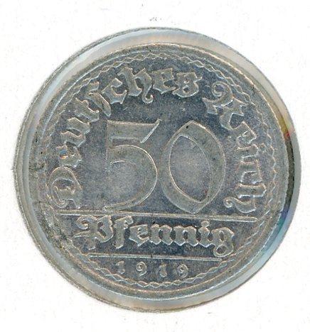 Thumbnail for 1919E German Silver 50 Pfennig aUNC