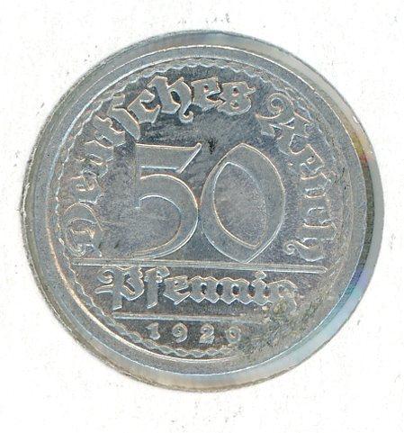 Thumbnail for 1919J German Silver 50 Pfennig gEF