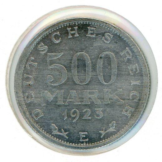 Thumbnail for 1923E German Silver 500 Mark aUNC
