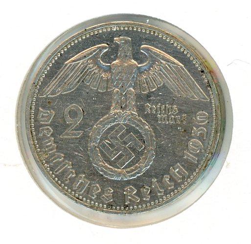 Thumbnail for 1936E German Silver Two Reichmark