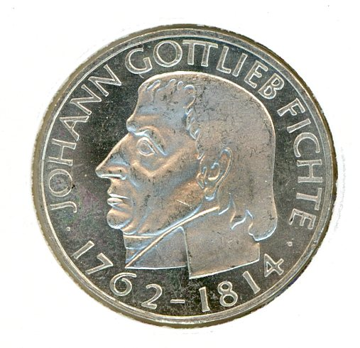 Thumbnail for 1964J German Silver Five Marks UNC
