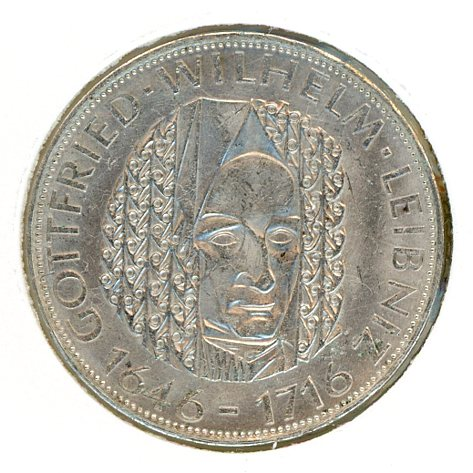 Thumbnail for 1966D German Silver Five Marks (C)