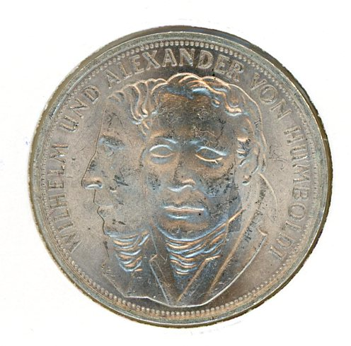 Thumbnail for 1967F German Silver Five Marks aUNC