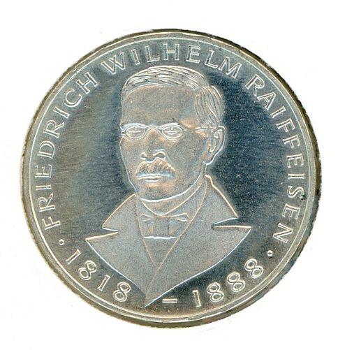 Thumbnail for 1968J German Silver Five Marks (B)