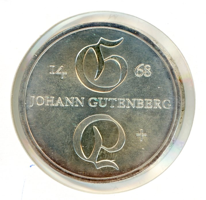 Thumbnail for 1968 DDR Silver Ten Marks UNC