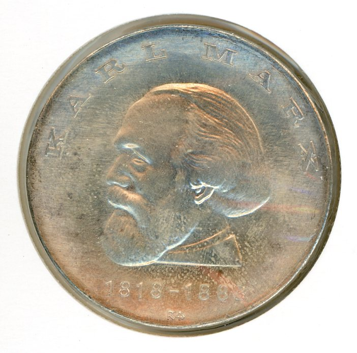 Thumbnail for 1968 DDR Silver 20 Marks UNC