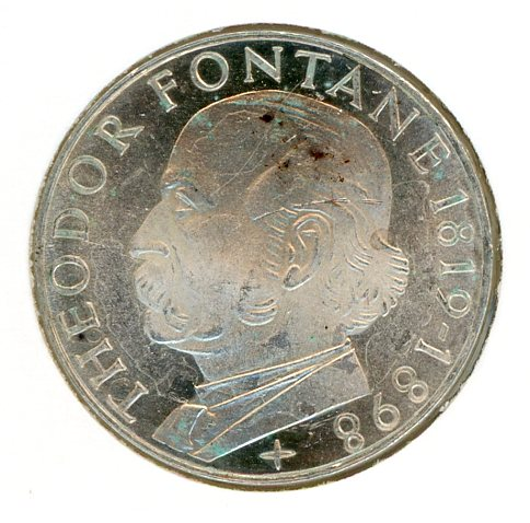 Thumbnail for 1969G German Silver Five Marks (B) - Proof Spots