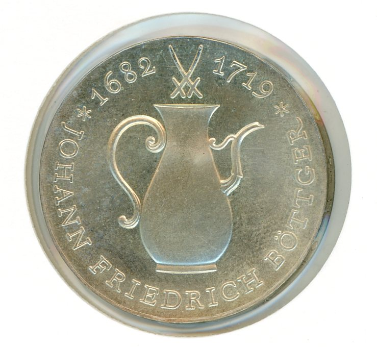 Thumbnail for 1969 DDR Silver Ten Marks UNC
