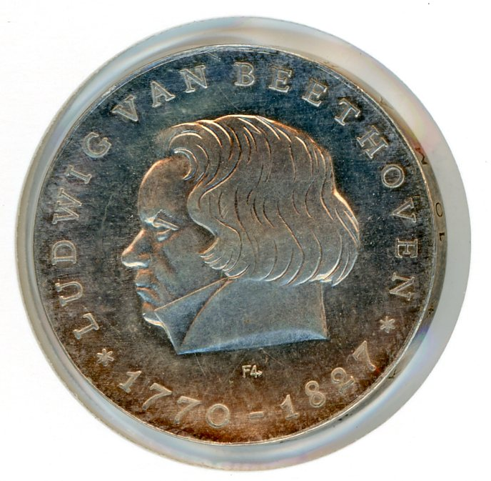 Thumbnail for 1970 DDR Silver Ten Marks aUNC