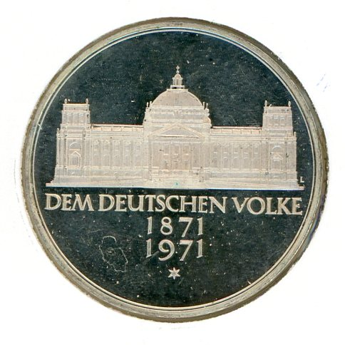 Thumbnail for 1971G German Silver Five Marks