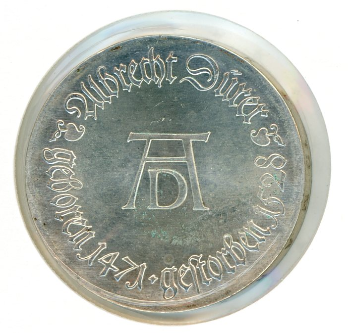Thumbnail for 1971 DDR Silver Ten Marks UNC