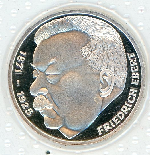 Thumbnail for 1975J German Silver Proof Five Mark Coin