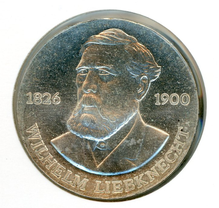 Thumbnail for 1976 DDR Silver 20 Marks UNC