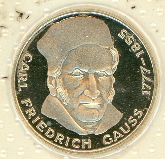 Thumbnail for 1977J German Silver Proof Five Mark Coin