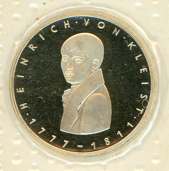 Thumbnail for 1977G German Silver Proof Five Mark Coin