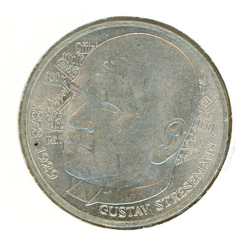 Thumbnail for 1978D German Silver Five Marks
