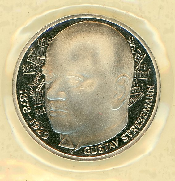 Thumbnail for 1978D German Silver Proof Five Mark Coin