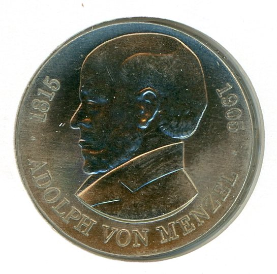 Thumbnail for 1980 DDR Silver Five Marks UNC