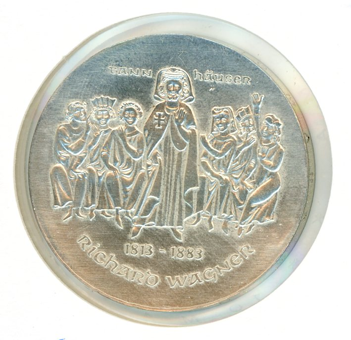 Thumbnail for 1983 DDR Silver Ten Marks UNC