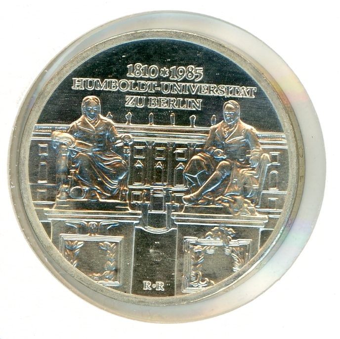 Thumbnail for 1985 DDR Silver Ten Marks UNC