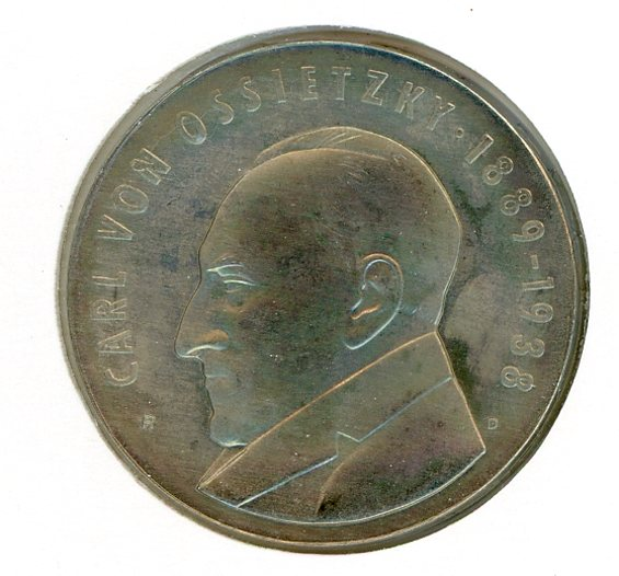 Thumbnail for 1989A DDR Silver Five Mark Coin UNC