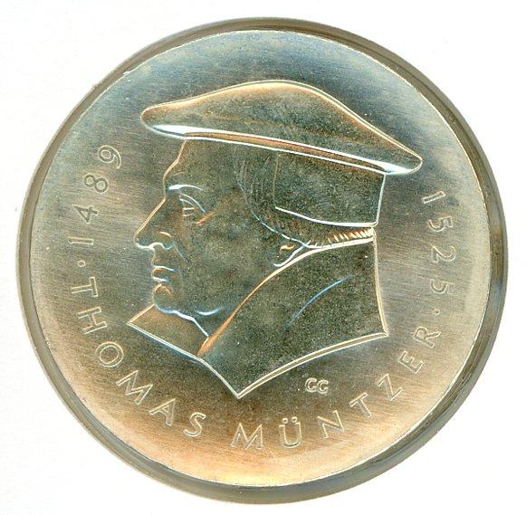 Thumbnail for 1989A DDR Silver Twenty Marks UNC