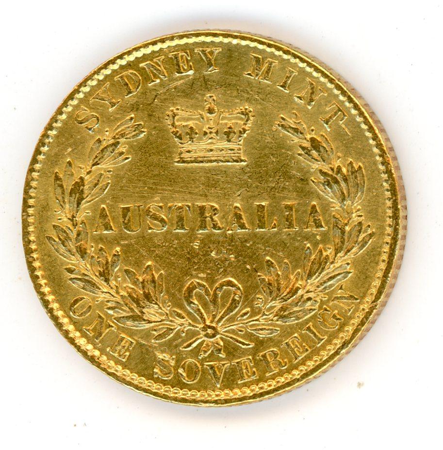 Thumbnail for 1857 Australian Sydney Mint Gold Sovereign Type Two