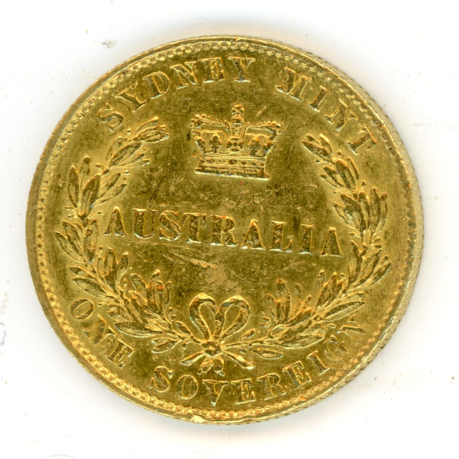 Thumbnail for 1858 Australian Sydney Mint Gold Sovereign Type Two