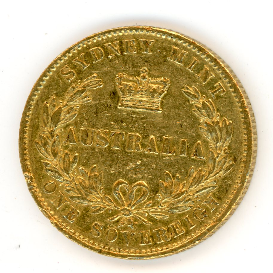 Thumbnail for 1862 Australian Sydney Mint Gold Sovereign Type Two