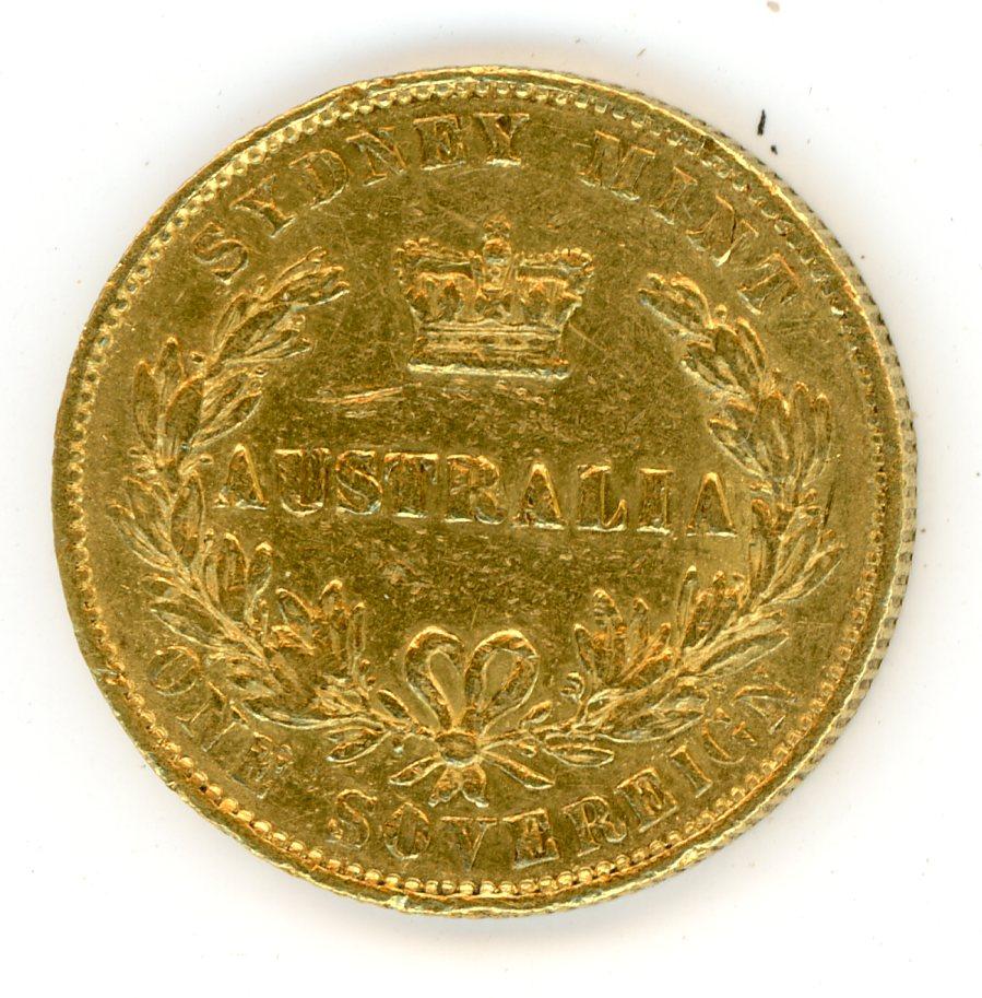 Thumbnail for 1864 Australian Sydney Mint Gold Sovereign Type Two