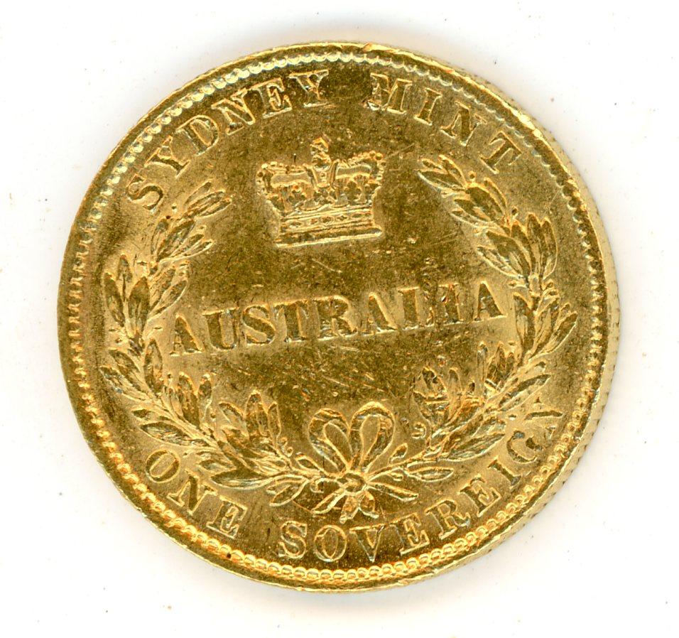 Thumbnail for 1867 Australian Sydney Mint Gold Sovereign Type Two