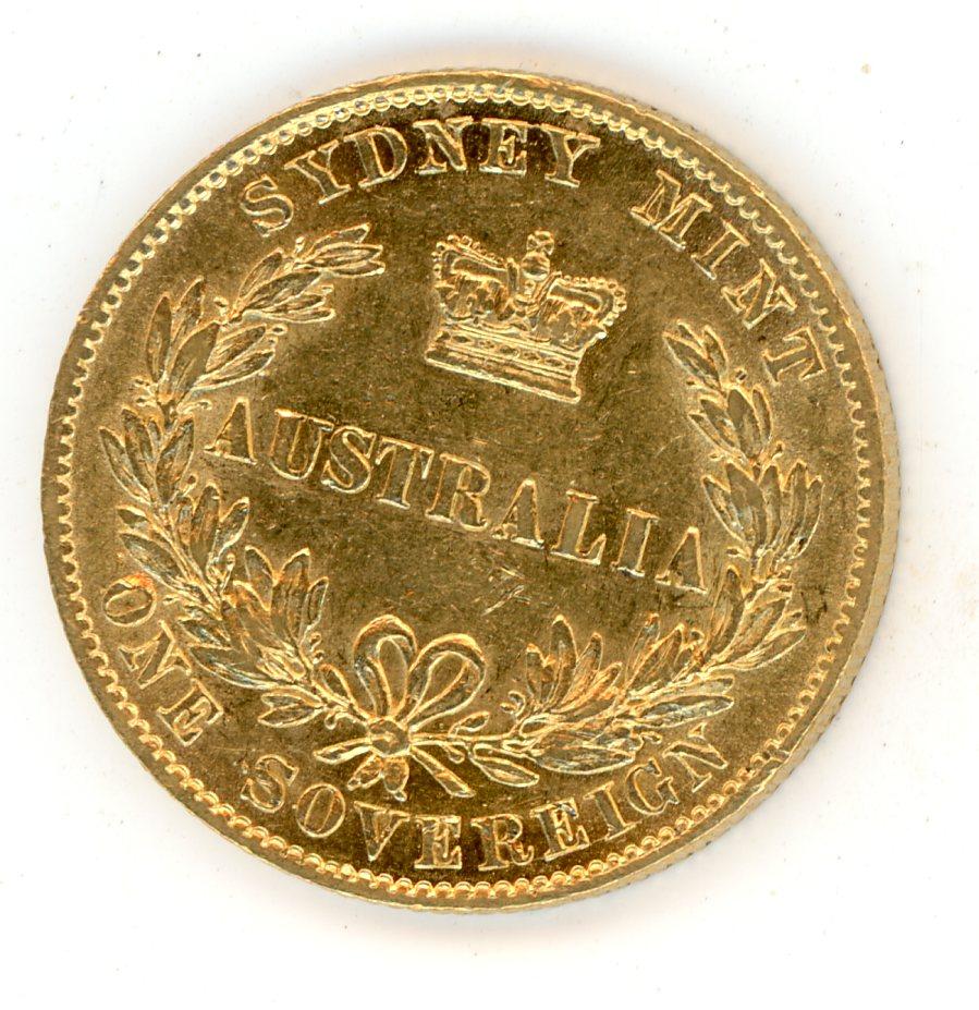 Thumbnail for 1868 Australian Sydney Mint Gold Sovereign Type Two