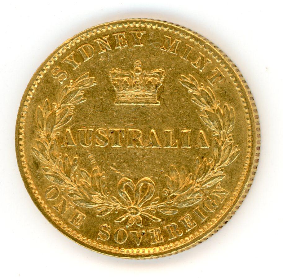 Thumbnail for 1870 Australian Sydney Mint Gold Sovereign Type Two