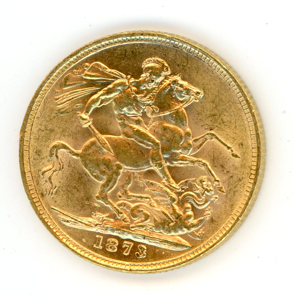 Thumbnail for 1873M Australian Young Head Gold Sovereign