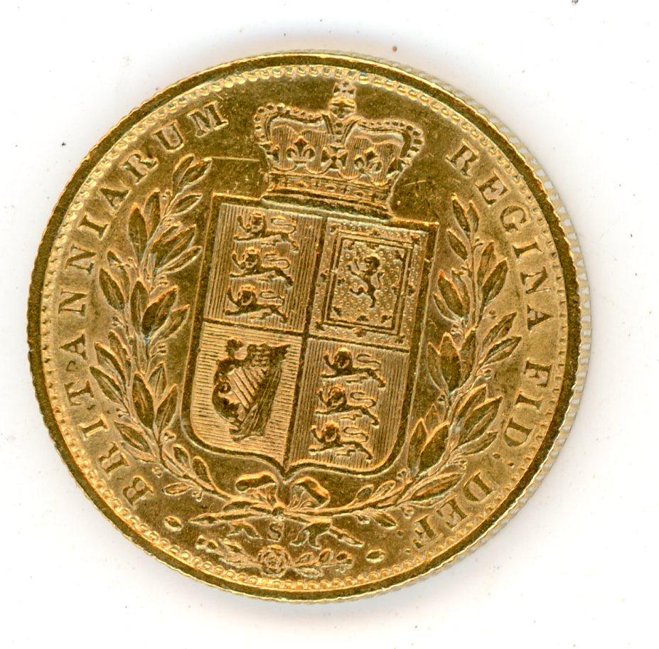 Thumbnail for 1873S Australian Shield Gold Sovereign