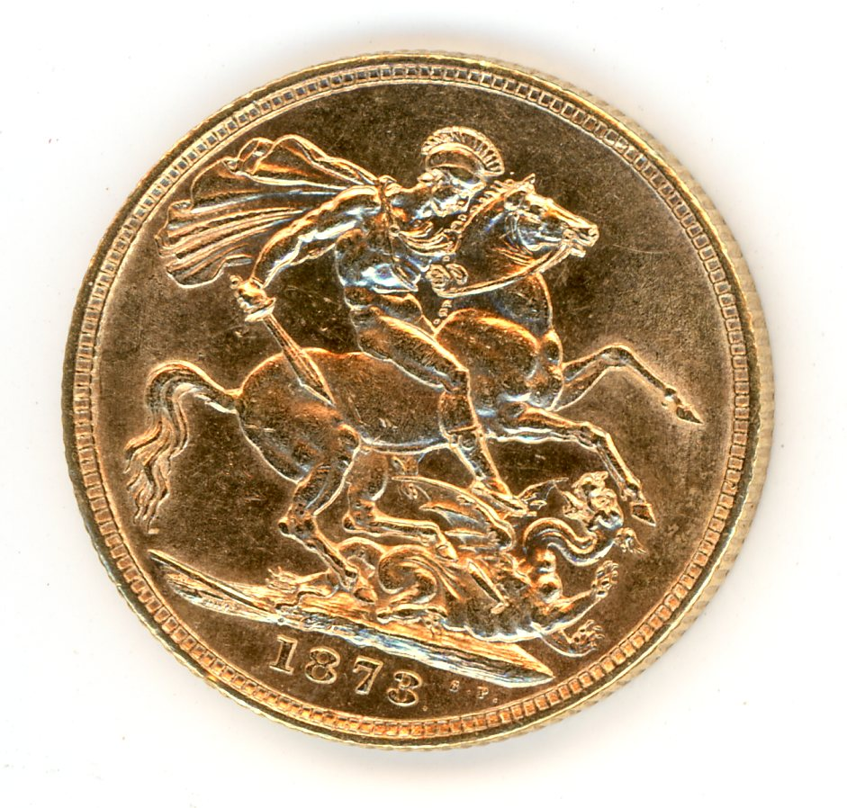 Thumbnail for 1873S Australian Young Head Gold Sovereign