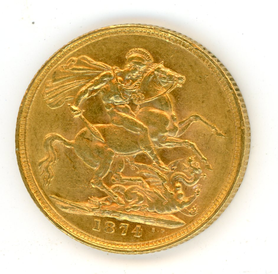 Thumbnail for 1874M Australian Young Head Gold Sovereign