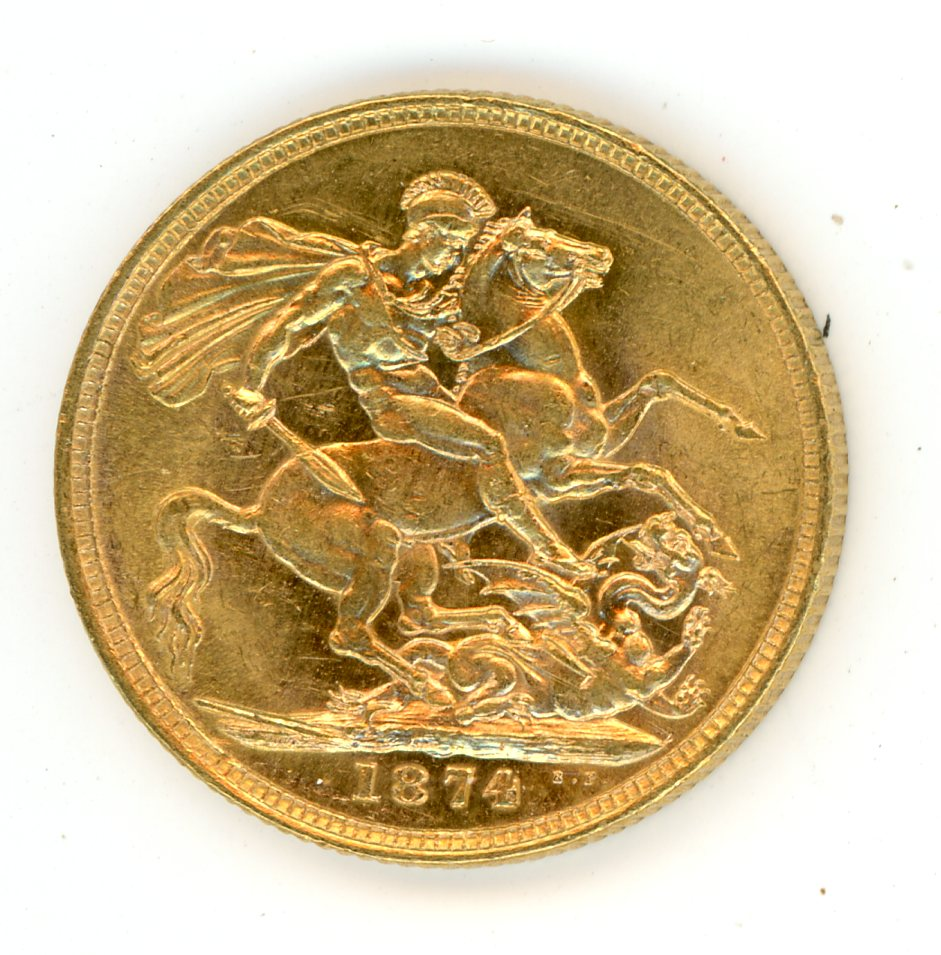 Thumbnail for 1874S Australian Young Head Gold Sovereign