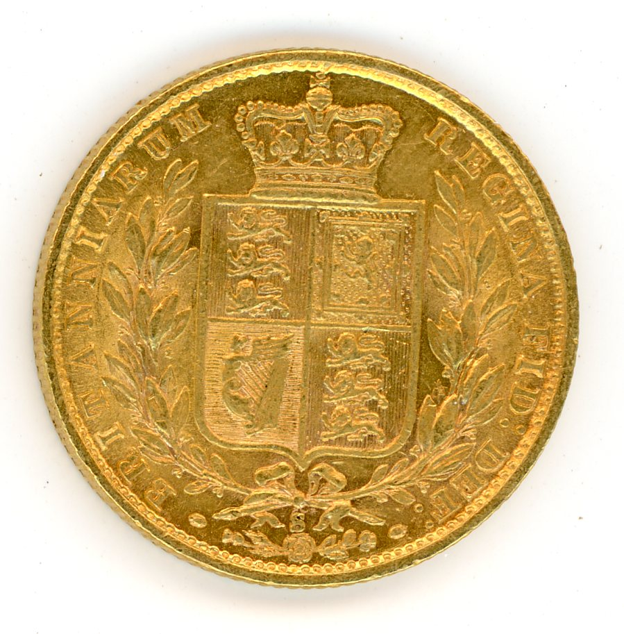 Thumbnail for 1877S Australian Shield Gold Sovereign B