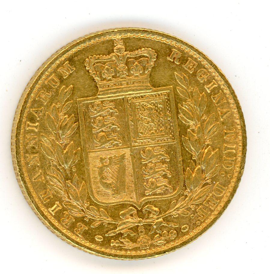 Thumbnail for 1877S Australian Shield Gold Sovereign D