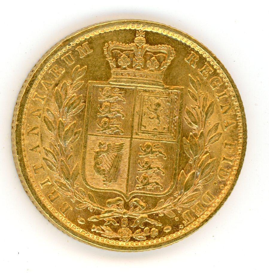 Thumbnail for 1877S Australian Shield Gold Sovereign E