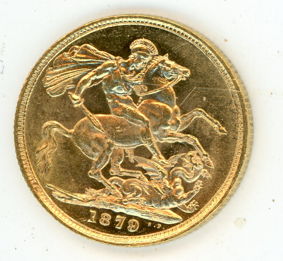 Thumbnail for 1879S Australian Young Head Gold Sovereign
