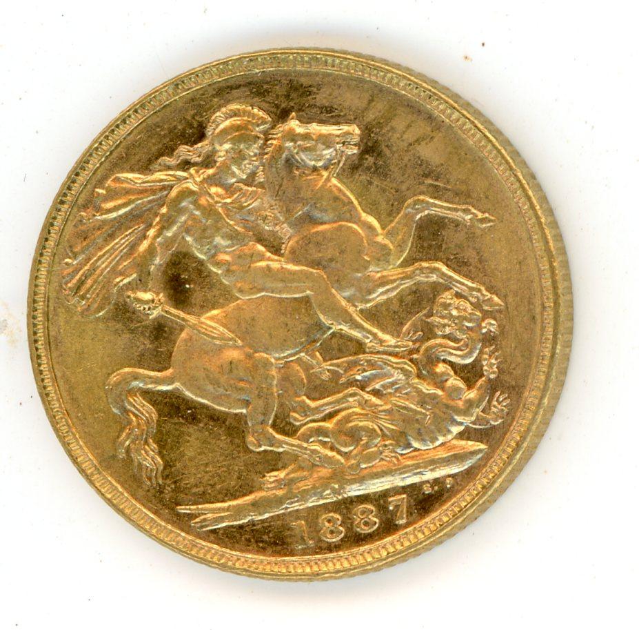 Thumbnail for 1887M Australian Jubilee Head Gold Sovereign